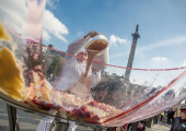 World's biggest Vegan Knickerbocker Glory created in London's Trafalgar Square