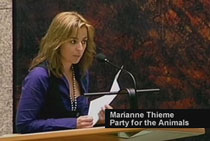 Marianne Thieme MP (Leader Dutch Party for the Animals)