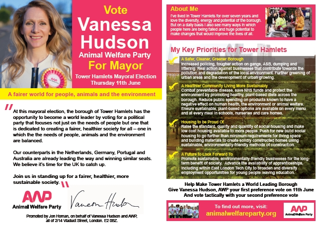 AWP Tower Hamlets Mayoral Election Leaflet