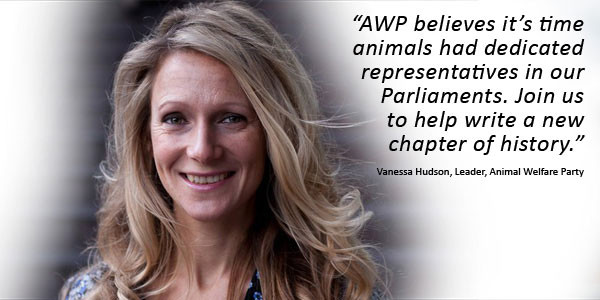 Vanessa Hudson Of The Animal Welfare Party UK